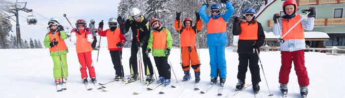 Učiteljica Danijela sa svojom ski grupom